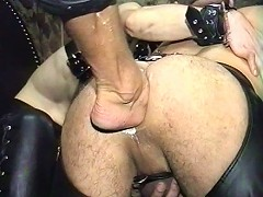 Fists and feet for this slaves tight asshole