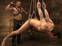 Jason Miller receives CBT on the new CBT box by the new house dom, Dirk Caber.