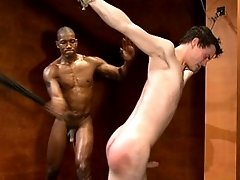 Studly Scott Alexander fucks CJ in bondage and cums all over his face.